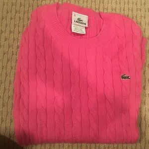 🐊Lacoste Pink Cable Knit Sweater 🐊